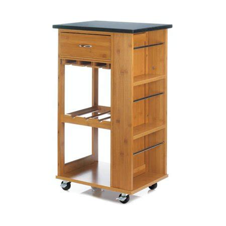 rolling kitchen cart marble top small modern table home