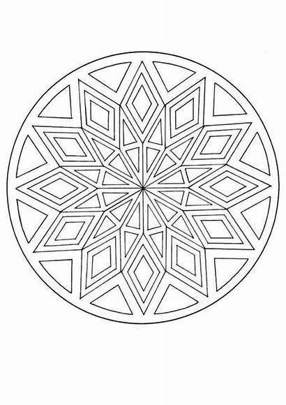 Mandala Coloring Pages Mandalas Pattern Printable Diamond