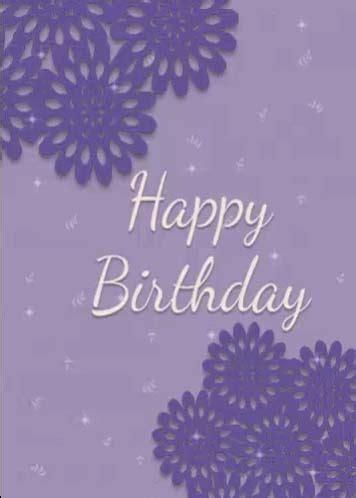 happy birthday   purple flowers  happy birthday