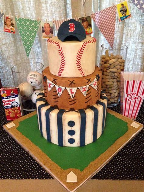 Vintage Baseball Themed Baby Shower Cake Cakecentralcom