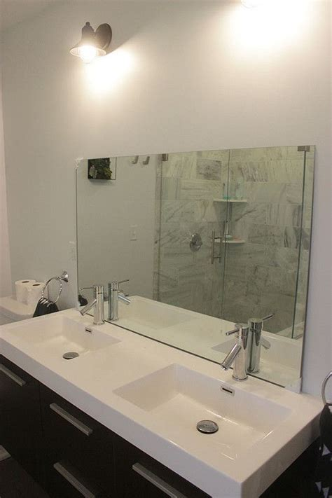 Install Bathroom Mirror by How To Install A Bathroom Mirror Without Brackets
