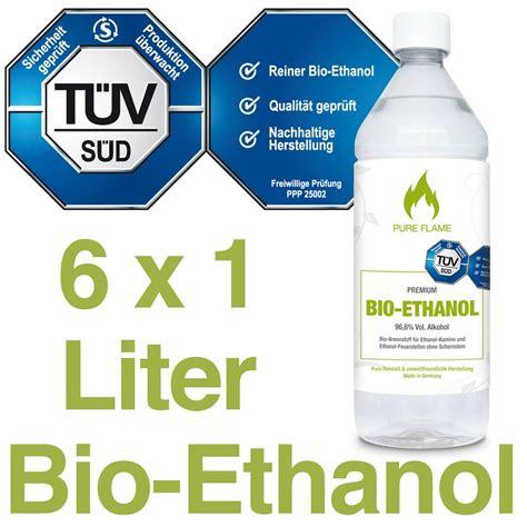 Bioethanol Test Geruch by 6 X 1l Bioethanol 96 6 T 220 V Bioethanol Kamin Test