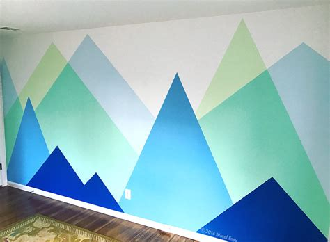 mountain nursery mural envy