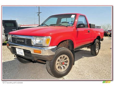 Cardinal Red Toyota Pickup Regular Cab