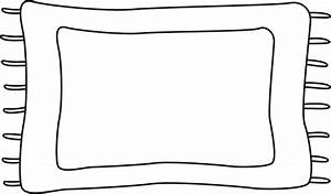 Black and White Rug Clip Art - Black and White Rug Image