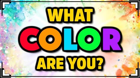What COLOR Are You?  Color Personality Test YouTube