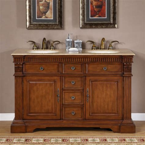 55 inch double sink vanity 55 inch furniture style double sink bathroom vanity uvsr018155