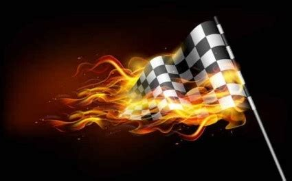vector burning flame banner background vector art ai