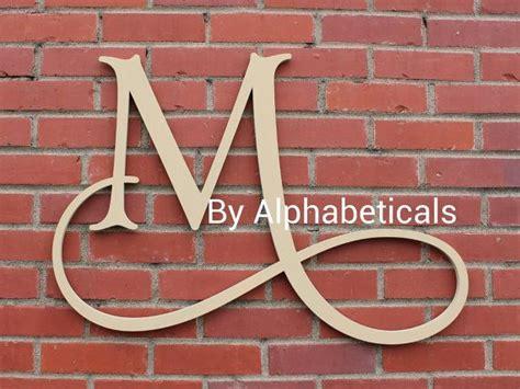 initial monogram wall decor wooden monogram  alphabeticals  nursery pinterest