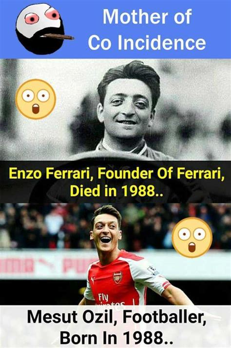 By athena aug 19, 2016, 2:38 am comments off on enzo ferrari and mesut ozil 2. dopl3r.com - Memes - Mother of Co Incidence Enzo Ferrari, Founder Of Ferrari, Died in 1988. Fly ...