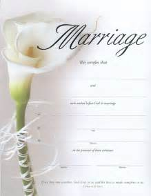 Free Blank Marriage Certificate Template