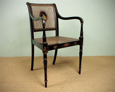Edwardian Era Chinoiserie Style Canework Armchair