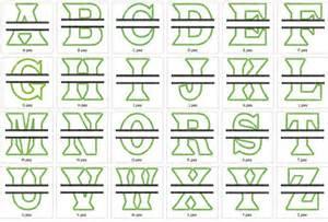 Split Monogram Embroidery Font Design