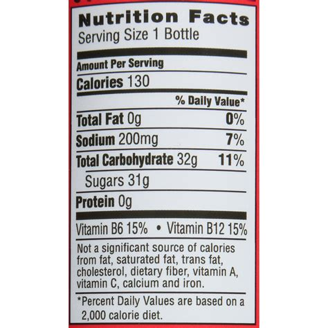 Fuze Iced Tea Nutrition Facts