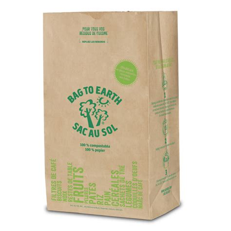 large biodegradable recycled paper food waste bags rona