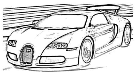 Bugatti Veyron Coloring Page