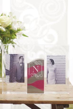 personalized sand ceremony shadow box photo frame david