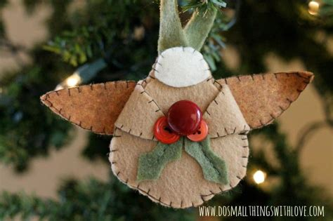 adorable felt angel homemade ornaments