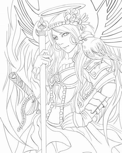 Warrior Angel Deviantart Drawing Coloring Pages Drawings