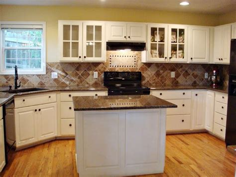 White Kitchen Pictures Ideas - tropical brown granite countertops with white cabinet home pinterest brown granite
