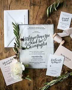 modern calligraphy fabric wedding invitations beautiful With wedding invitations printed on fabric