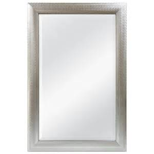 shop allen roth 24 in x 36 in silver beveled rectangle
