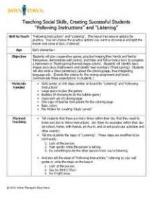 teaching social skills creating successful students With social skills lesson plan template