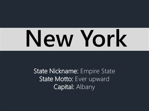 State Nickname Empire State State