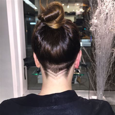 image result  undercut side view long hair woman hair