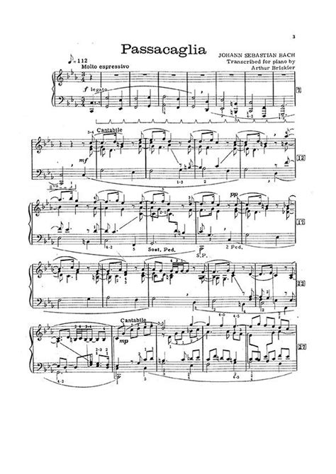 Arthur Briskier Bach Chaconne Passacaglia Prelude Fugue