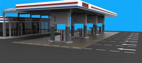 gas station gasoline  model cgtrader