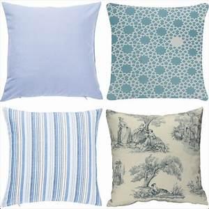 Housse De Coussin Bleu : housse de coussin bleu achat au meilleur prix avec kibodio ~ Dailycaller-alerts.com Idées de Décoration