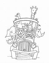 Bus Coloring Drawing Animals Animal Printable Driver Riding Mr sketch template