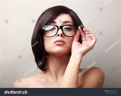 Sexy Success Woman Glasses Looking Stock Photo 186360770