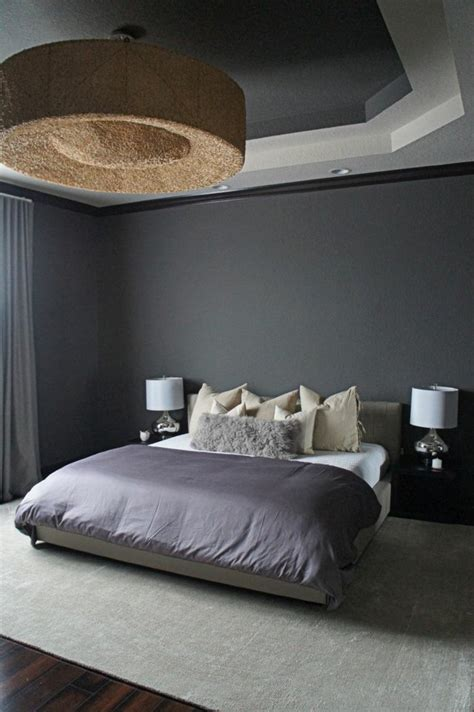 chambre design gris décoration chambre adulte gris