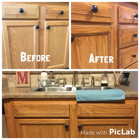 how to stain oak kitchen cabinets honey oak cabinets restained with genera finishes american 8911