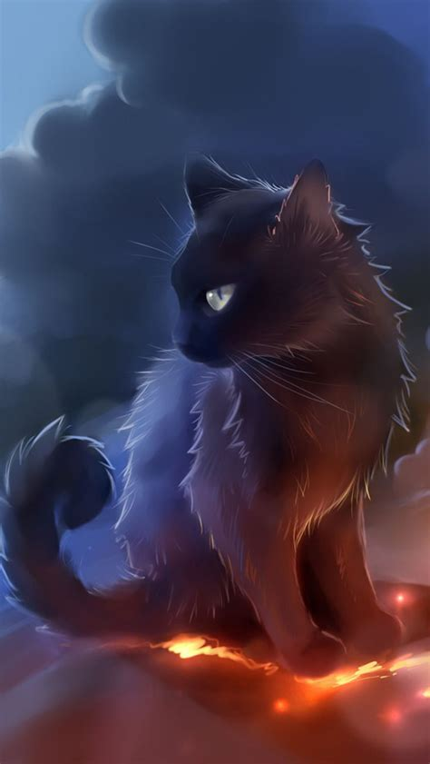 Cat Anime Wallpaper - black cat anime wallpaper free iphone wallpapers