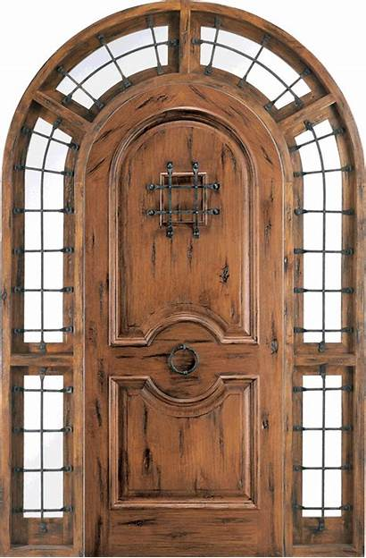 Doors Entry Rustic Knotty Alder Door Round