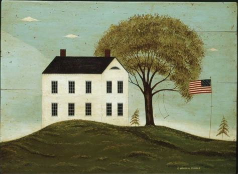american folk art paintings  warren kimble
