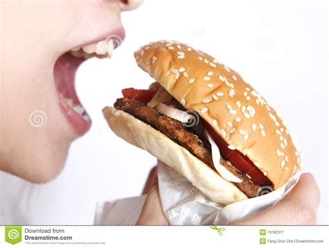 what to eat with hamburger eat a hamburger stock image image of girl calorie bread 13782317