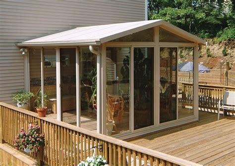 sunroom kit sunroom kits building  deck porch kits