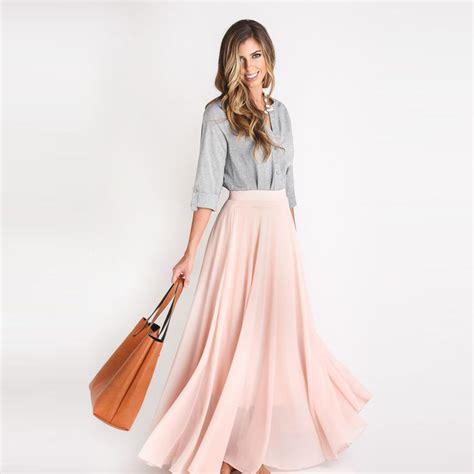 Custom Made Pink Skirts Women Zipper Waist A Line Floor