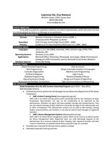 computer science resume objective computer science resume templates http www