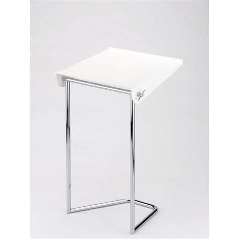 bureaux d ordinateur meuble pliant pour ordinateur portable blanc achat
