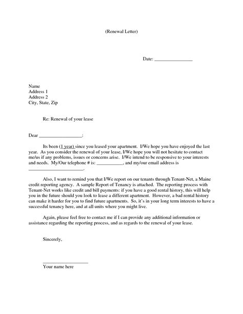 images  letter  tenant lease  renewal template