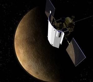Space Probe Swings by Mercury