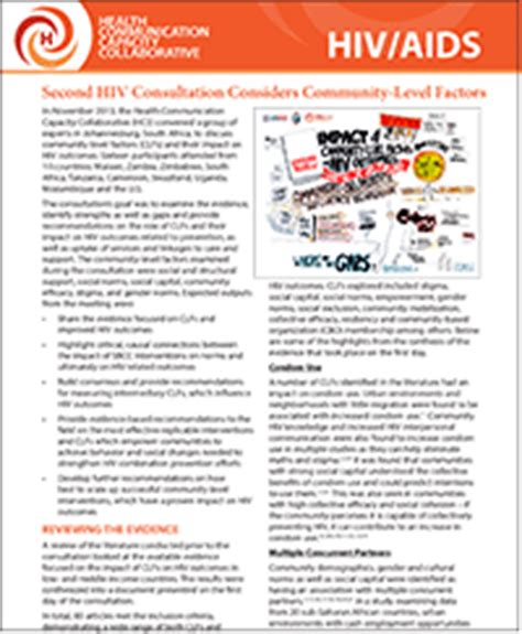 second hiv global expert consultation health