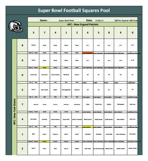 Free Bowl Pool Templates by 8 Football Pool Sles Sle Templates