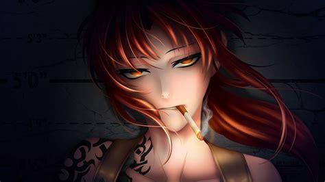Anime Smoking Cigarette Face Wallpaper 1920x1080 47752