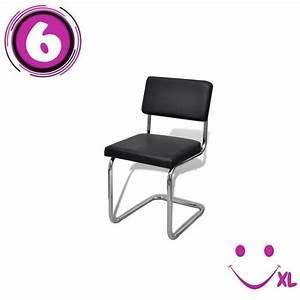 Chaise De Salon Design : set de 6 chaises de salon design et moderne en simili cuir blanc achat vente chaise salle a ~ Teatrodelosmanantiales.com Idées de Décoration